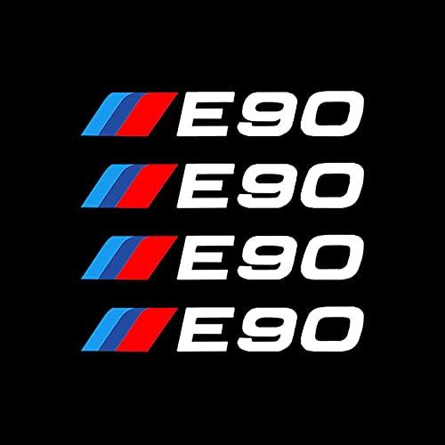 YUAAZ 4 Uds Llantas de aleación de Coche Pegatinas de Rueda calcomanías de Vinilo para neumáticos para BMW E46 E60 E90 E70 E34 E36 E87 E30 E39 E53 E61 E92