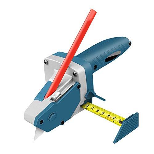 PHLPS Herramienta de corte de tablero de yeso todo en uno con cinta métrica y cuchillo de utilidad medida multifuncional carpintería tablero de yeso tablero de corte cinta de corte de la medida de tra