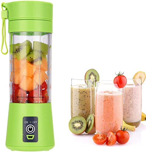 Rukh USB Rechargeable Portable Blender, Shakes and Smoothies, Mini Juicer Cup , Handheld Travel Fruit Mixer ( 380ml Personal Size , Multicolour )
