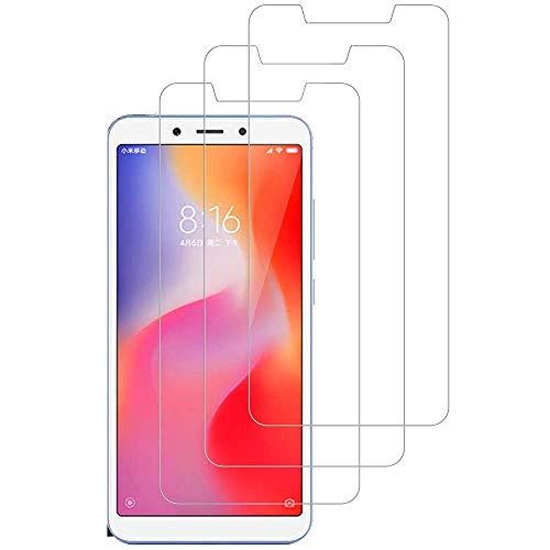 iGlobalmarket [3 Unidades] Protector de Pantalla Xiaomi Redmi 6 / 6A, Cristal Templado Xiaomi Redmi 6 / 6A, Alta Definicion, 9H Dureza, Resistente a Arañazos