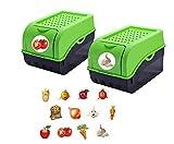 Rival 2 tarros de almacenamiento para patatas, verduras, frutas, cebollas, caja de almacenamiento,...