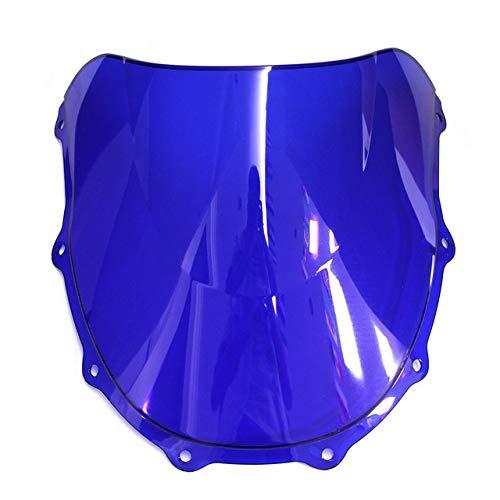 YANGLY Motocicleta Parabrisas ZX7R 1996-2006 Tornillos Tornillos Accesorios Ajuste Fit For Kawasaki Ninja ZX7R Iridium Deflectores De Viento Deflectores de Parabrisas de Moto (Color : Blue)