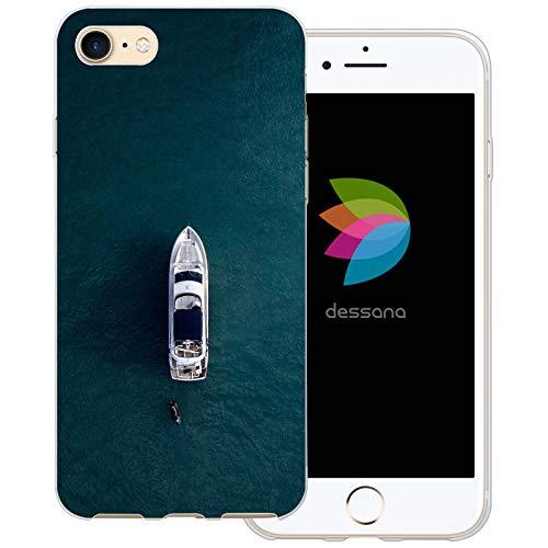 dessana Yacht - Cover trasparente per Apple iPhone 7, motivo: nave Jet-Ski