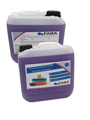 20 L Flüssigwaschmittel Konzentrat Vollwaschmittel 2x10 Liter LILA Flieder