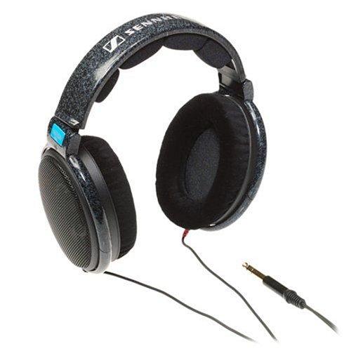 Sennheiser HD 600 Stereo-Kopfhörer mit ein Adapter auf 6.3mm Stereoklinke, schwarz