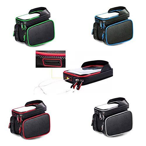 Bolsa de bicicleta El equipo de ciclismo a prueba de agua se puede conectar a los auriculares del teléfono móvil, a la bolsa de sillín de tierra, al paquete de la viga delantera de la bicicleta para c