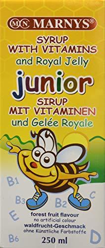 Marny s Jarabe JUNIOR Multivitamínico con Jalea Real y 12 Vitaminas 250ml Sabor Frutas del Bosque