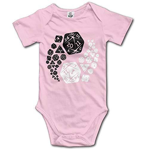 Générique klimshirt Donjons en draken voor jongens, Yin Yang, klimpak, onesie, korte mouwen, voor baby's, 0-24 maanden