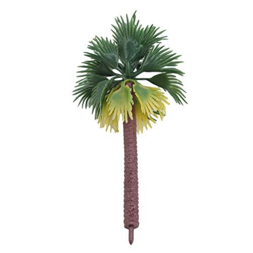 Pinhan 6 Teile/Satz Kokospalmen Modellbäume Tropische Kokospalme Modellbahn Eisenbahn Wargame Landschaftsmodell, 7 cm