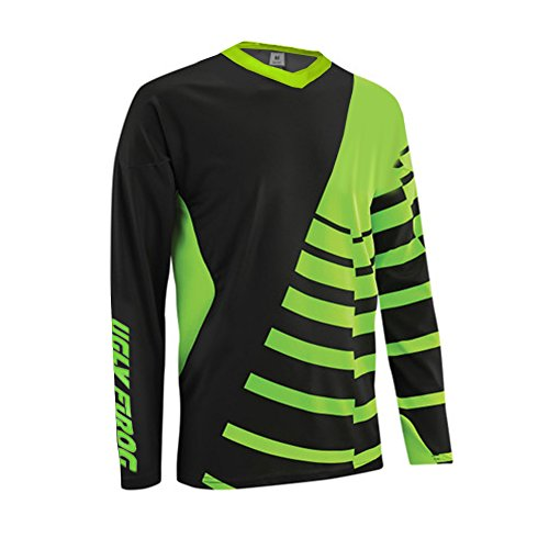 Uglyfrog 2018 V-Collar Long Sleeve Sports Jersey Frühling Motocross Downhill Trikots Enduro Cross Motorrad MTB Shirt