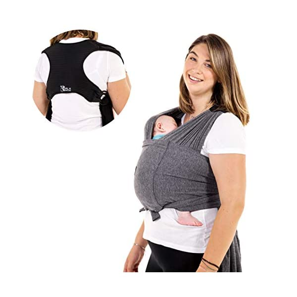 Portabebés Koala Babycare® fácil de transportar (fácil de poner), unisex ajustable – portabebés versátil de hasta 10 kg…