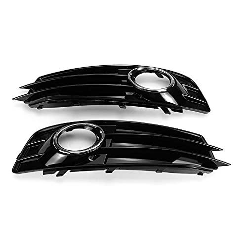 LBHUAJIA Ein Paar Auto Nebelscheinwerfer Grill Lampenabdeckung Front Kühlergrill Grill , Für Audi A3 8P S ~ Line 2009~2012 8P0807682 8P0807681 Chrom/Schwarz