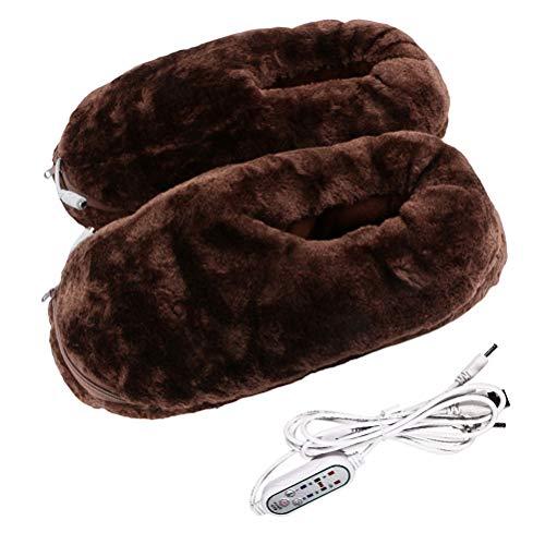 Calentador de pies USB, Zapatos para clima frío en invierno, Calentamiento eléctrico...