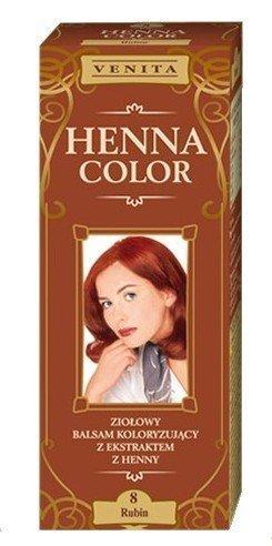 Henna Color 8 Rubin Haarbalsam Haarfarbe Farbeffekt Naturhaarfärbemittel Henne Öko