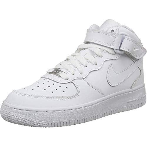 Nike Air Force 1 (Gs) - Scarpe Sportive da Bambini E Ragazzi, Bianco (113 White/White), 38