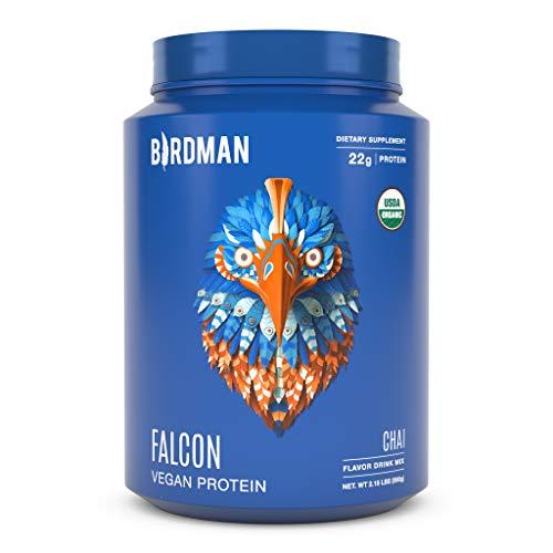 Birdman Falcon Premium Organic Plant Based Protein Powder, Vegan, Low Net Carbs, Keto, No Sugar Added, Non Dairy, Gluten-Free, Soy-Free, Lactose-Free, Non-GMO, Vanilla Flavor 33 Servings, 2.18lb