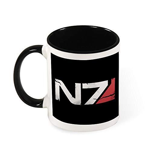 Mass Effect N7 Kaffeetasse, Keramik, Geschenk für Frauen, Mädchen, Ehefrau, Mutter, Großmutter, 325 ml