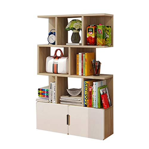 Xing Hua Shop Bookcases Bookshelf Floor Combination Bookcase Bookcase Home Student Locker Shelf Children's Bedroom Bookcase Rack Load Weight 100kg / Best Gift (Color : B, Size : 8024124cm)