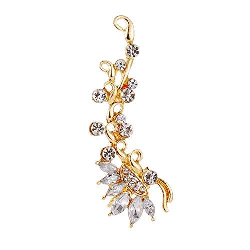 HWADMW Pendientes de cristal único de la flor gótica punk de la vendimia, combinados con pendientes de la pasarela del líder de la tendencia pendientes de la joyería de la boda 9