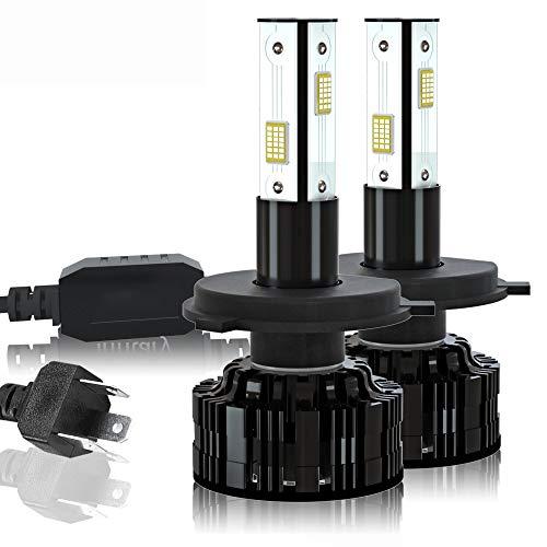 LIUXU Faros de automóviles, H4 H7 LED Bombilla de Cabeza de Coche 12V 24V 36V, 22000lm 3570 Fijo H1 H3 H1 9005 9006 HB4 con Luces de Niebla automáticas,9005 hb3