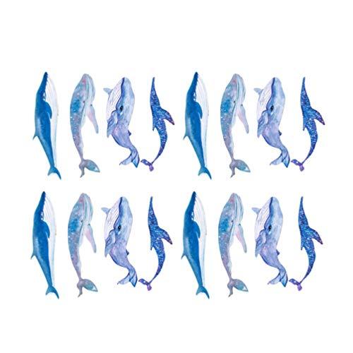 HEALLILY Segnalibri Animali 60Pcs Ornamenti Nautici Decorazione Ornamento Delfino Bambini Regalo di Compleanno Festa di Favore