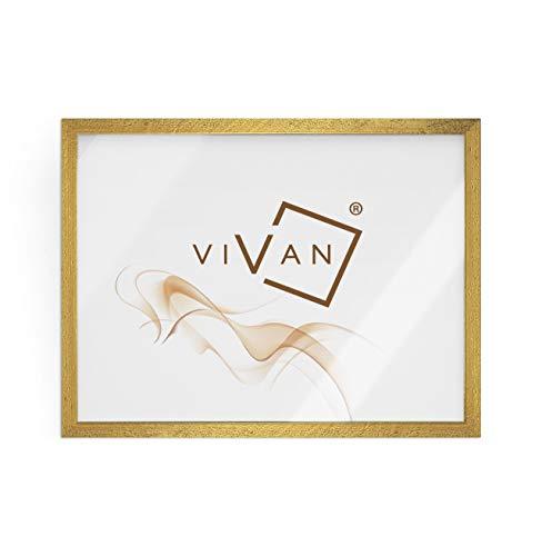 VIVAN Riquadro Cornice, Legno, Oro, Formato Immagine 50x70