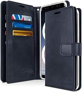 محفظة حماية لجهاز سامسونج جالكسي نوت 8 من الجلد مع جيوب داخلية متعددة