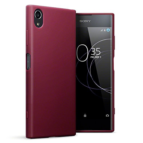 TERRAPIN, Kompatibel mit Sony Xperia XA1 Plus Hülle, TPU Schutzhülle Tasche Hülle Cover - Matt Rot