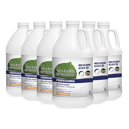 Seventh Generation Professional Non Chlorine Bleach, Free & Clear, Unscented, Color-Safe, 64 fl oz (Pack of 6)