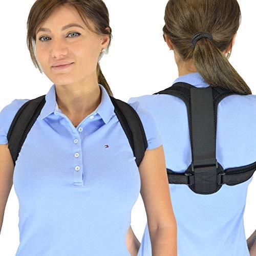 BakkuHira 2.0 - Geradehalter zur Haltungskorrektur gegen Rückenschmerzen, Schulterschmerzen und Nackenschmerzen. Haltungsbandage, Rückenbandage, Rückenstütze für Männer und Frauen