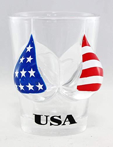 USA-Flagge Bikini Büste 3D Schnapsglas