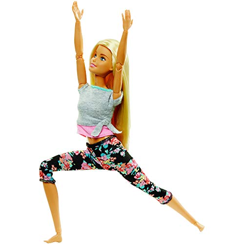 Barbie Made to Move Dolls with 22 Joints and Yoga Clothes, Multicolor, 22 inches