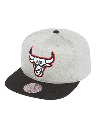 Mitchell & Ness HUD083 Snapback Cap Chicago Bulls Grau Schwarz, Size:ONE Size