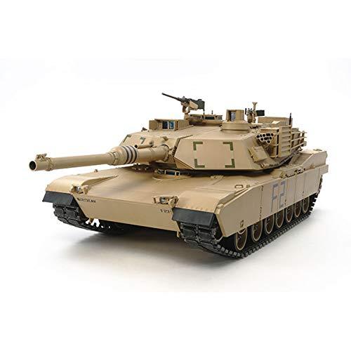 TAMIYA 56041 56041-1 US KPz M1A2 Abrams Full Option, Bausatz, Maßstab 1:16, Modellbau, RC Panzer, Aufbauanleitung, inkl. Motor, braun