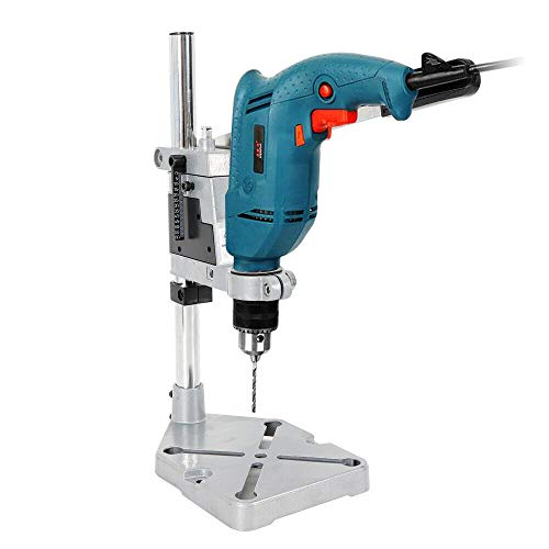 KDHARMR Electric Bench Drill Stand Double Hole Adjustable Press Power Tool Workbench Repair Clamp Base Frame Holder Bracket(US Stock)