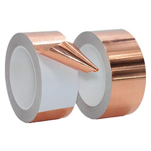 BE-TOOL - Cinta adhesiva de cobre para blindaje EMI, circuitos de papel, repelente de babosas, manualidades, reparaciones eléctricas