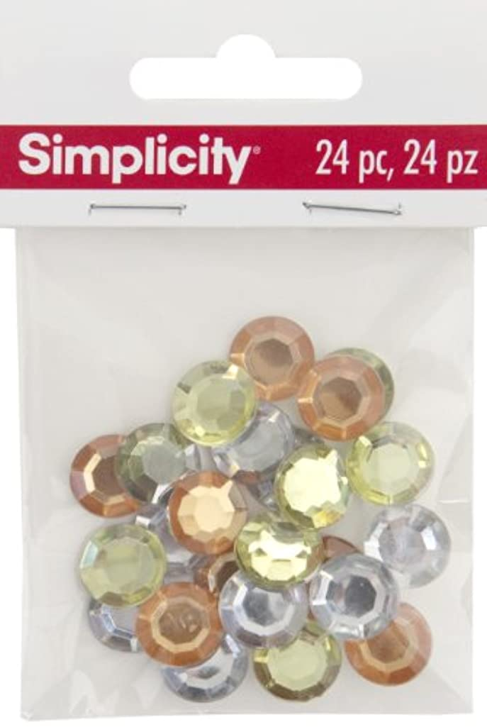 Simplicity 24-Piece Round Gemstones in 3 Assorted Colours