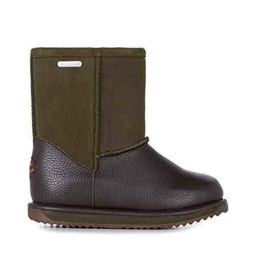EMU Australia Trigg Kids Wool Waterproof Boots Size 3 EMU Boots Dark Olive