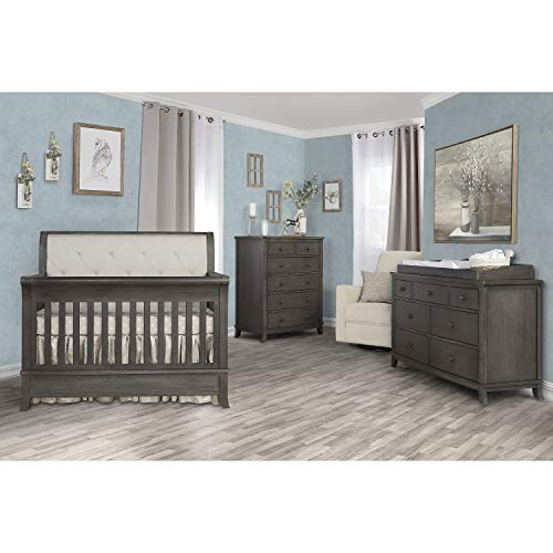 Save %39 Now! Evolur Signature Amsterdam 5-in-1 Convertible Crib in Smokey Brushed Grey