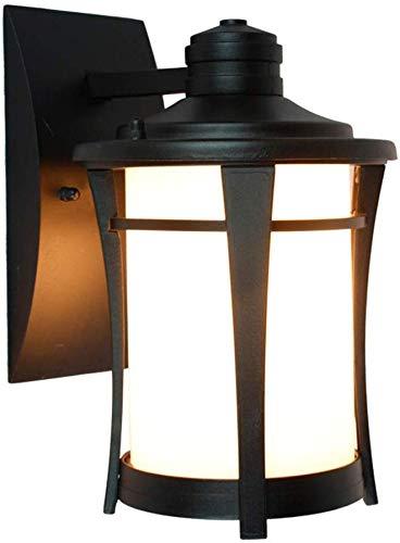 Beautiful Home Decoratielampen Vintage buitenwandlampen waterdichte wandlamp zwart aluminium en glas lampshade buiten Sconce Retro Tuin Wand ingang Garden veranda lamp lantaarn E27 17 * 20 *