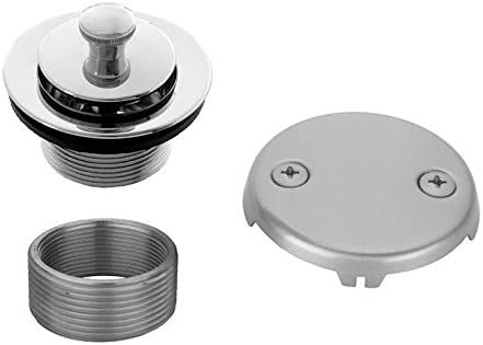 Jaclo 542-SN Lift Arlington Mall Import and Turn Faceplate Drain with Satin Strainer