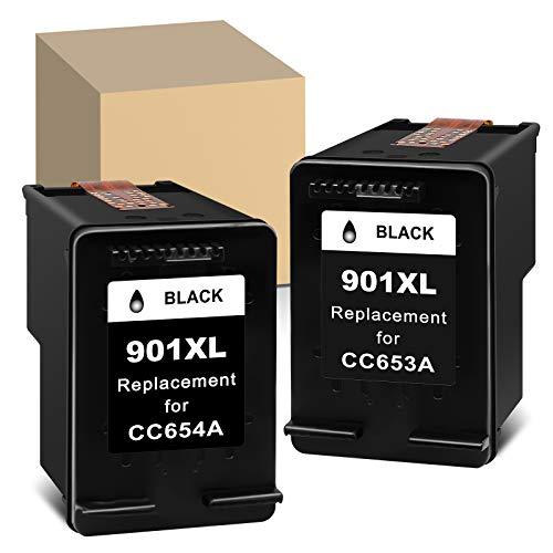 ATOPolyjet - Cartuchos de tinta remanufacturados para HP 901XL 901 XL Combo Pack de uso con HP Officejet 4500- G510g/G510h Officejet J4524 J4525 Wireless -G510n Printer (2 negros)