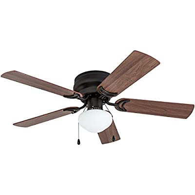 Prominence Home Alvina LED Globe Light Hugger/Low Profile Ceiling Fan, 42 inches