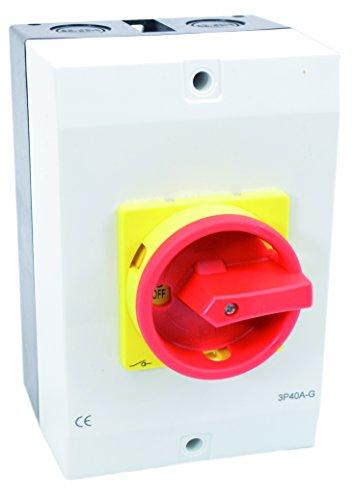 Hauptschalter Leistungsschalter 20A, IP 65, 3-polig im Gehäuse, Drehschalter für alle industriellen Anforderungen