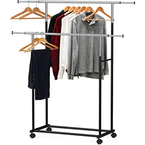 Simple Houseware Standard Double Rod Garment Rack