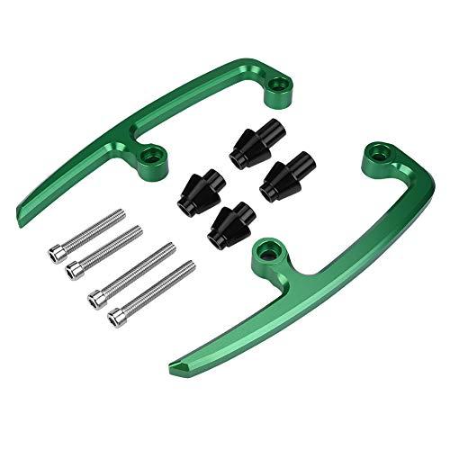 KIMISS CNC Aluminium Motorrad Beifahrer Haltegriff hinten Sitzschiene für Z650 17-18(Grün)