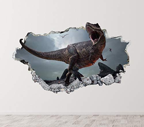 3D-Wandtattoo, entfernbar, Motiv: T-Rex Dinosaurier, 55,9 cm am längsten Ende
