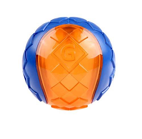 GiGwi Hundespielzeug Ball mit Quietschelement, Large, blau/orange
