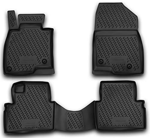 Element EXP.CARMZD00031 Passgenaue Premium Antirutsch Gummi Fußmatten - Mazda 3 - Jahr: 13-20, schwarz
