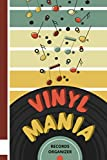 Vinyl Mania Records Organizer: Vinyl Lovers Collector Log Book with Alphabetical Tabs/Old School Retro Gift for Audiophiles